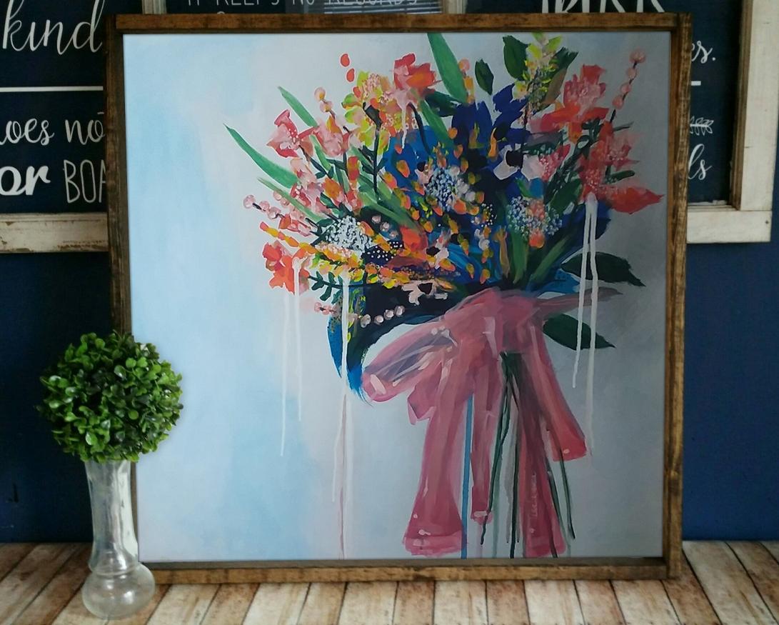 bouquet-framed